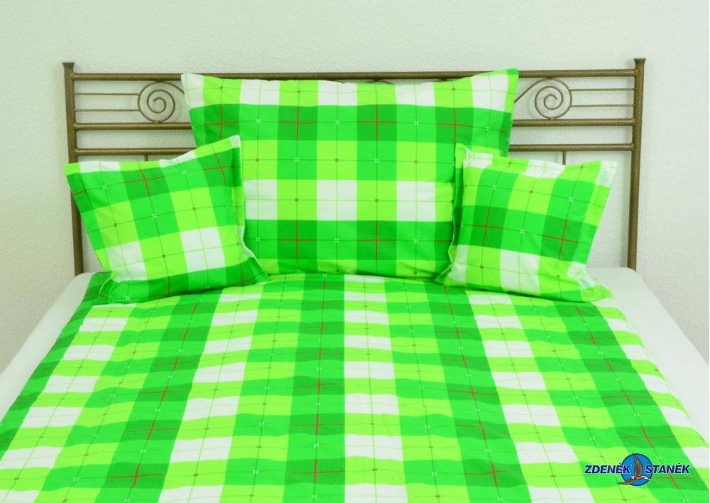 Ložní povlečení bavlna Zelená kostka , 135g