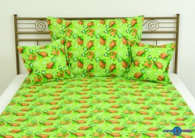 Ložní souprava bavlna Želvička zelená 140x200