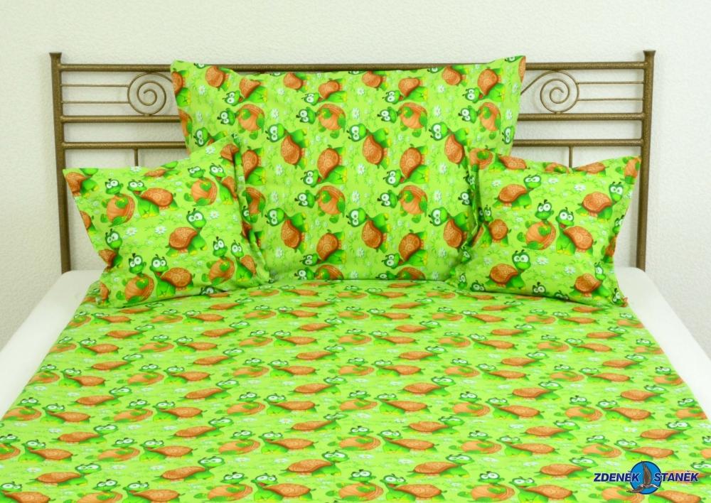 Ložní souprava bavlna Želvička zelená