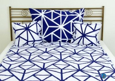 Ložní povlečení bavlna Modro bílá kombinace , 135g