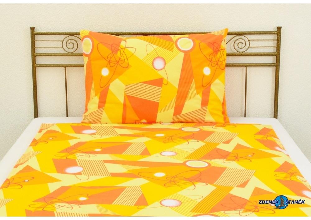 Bavlněné povlečení Geometrie oranžová